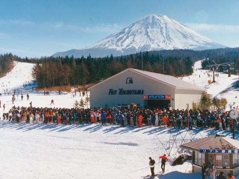 富士天神山スキー場 空撮